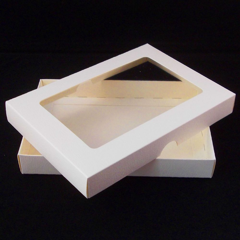 A5 Ivory Greeting Card Boxes With Aperture Lid